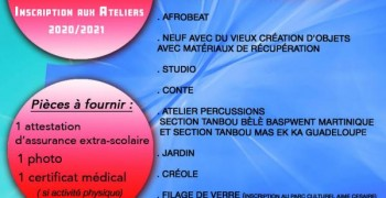INSCRIPTION ATELIERS CENTRE CULTUREL DE CHATEAUBOEUF