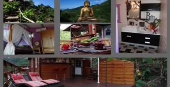Le Nid d'Amour terrasse en bois avec spa