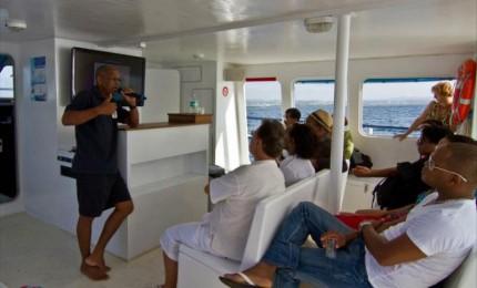 YKEVA - excursions culturelles, combinées terre /mer en catamaran à moteur (45 places!)
