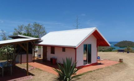 Location bungalow sur presqu'île privée