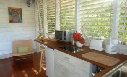 Bungalow bois vue magnifique sur Grande Anse