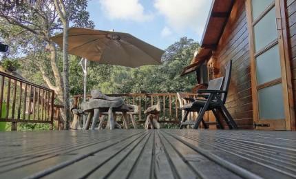 cabane r ve d 39 enfant perch e dans les arbres avec terrasse et jacuzzi priv location de. Black Bedroom Furniture Sets. Home Design Ideas