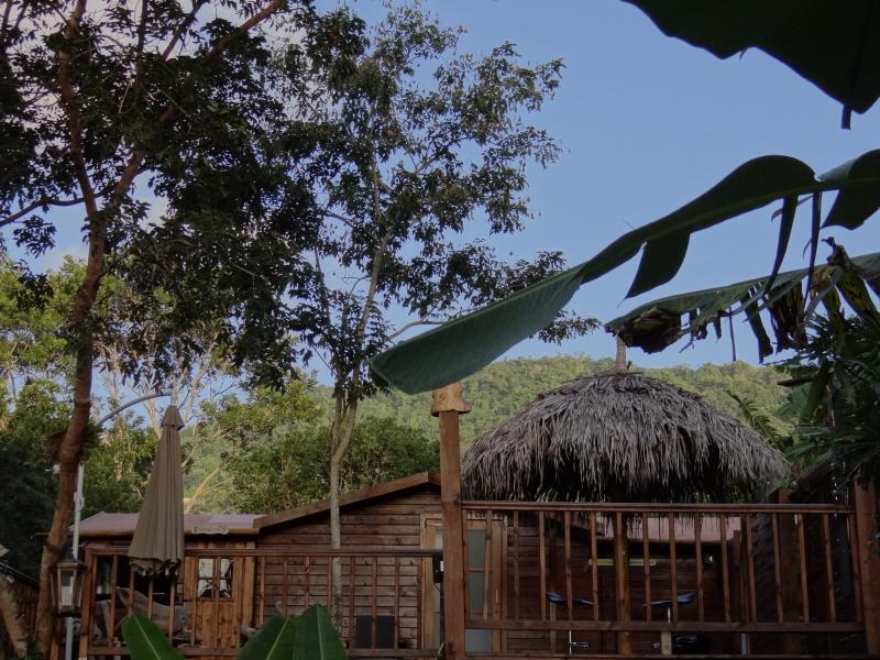 cabane perch e dans les arbres avec terrasse et jacuzzi. Black Bedroom Furniture Sets. Home Design Ideas